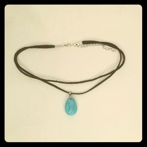 Turquoise pendant choker or necklace